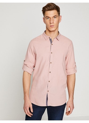 Slim Fit Uzun Kollu Oxford Gömlek-Koton